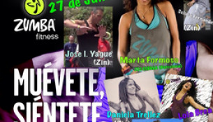 O 27 de xuño, GRAN MASTERCLASS DE ZUMBA no Multiusos con Marta Formoso