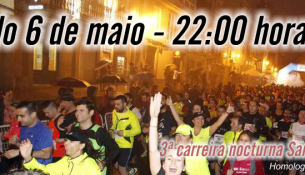 Inscrición xa aberta para a carreira SantYaGo, con prezo especial de 5€ para abonados das instalacións.