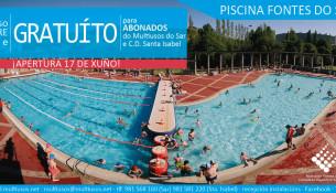 Este sábado, 17 de xuño, abren as piscinas de verán Fontes do Sar