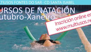 O 12 de setembro abre a inscrición aos cursiños de natación