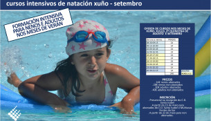 Abierta la inscripción para los cursillos de natación intensivos en el C.D. Santa Isabel