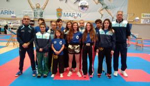 Magníficos resultados do Club Juancho Vázquez no Campionato de España Kickboxing infantil, cadete e junior