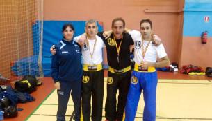 O club do profesor das instalacións Juancho Vázquez consegue un ouro e dúas pratas no Cto. de Kickboxing Veteranos