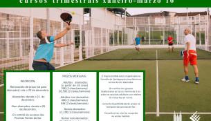 Novos cursos trimestrais de tenis e pádel