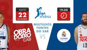 Partido Obradoiro CAB – Real Madrid Baloncesto