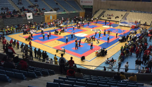 O Multiusos Fontes do Sar, sede do Campionato de España de Kickboxing