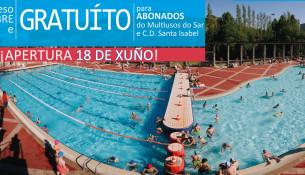 O luns 18 de xuño abren as piscinas de verán Fontes do Sar