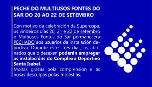 PECHE DO MULTIUSOS FONTES DO SAR DO 20 AO 22 DE SETEMBRO