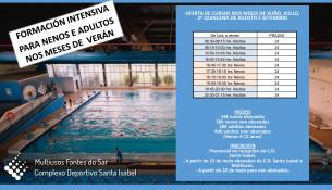 Abierta la inscripción para los cursillos de natación intensivos del verano