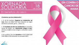 El 18 de octubre, jornada solidaria contral el cáncer de mama
