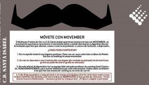 Muévete con MOVEMBER. Pon el bigote y ¡participa!