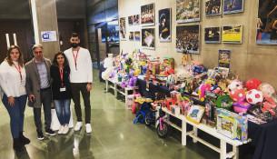 Gran éxito de la campaña de recogida de juguetes para Cáritas en las instalaciones