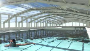 As piscinas Fontes do Sar cambiarán o globo presostático por unha cuberta telescópica e estarán temporalmente pechadas