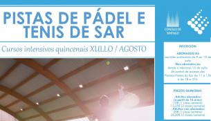 Cursos intensivos de pádel y tenis en verano