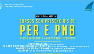 Matrícula abierta para nuevos cursos semipresenciales de PER y PNB